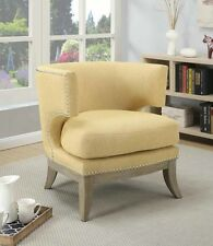 Contemporary Barrel Back Accent Chair in Yellow by Coaster Furniture 902562