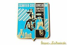 "VESPA Metall-Plakette ""SIP Scooter Customshow Landsberg 2013"" - Badge Emaille"