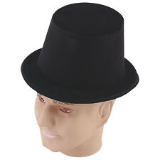 TOP HAT #BLACK FLOCK ADULT FANCY DRESS