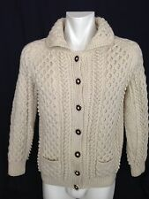 Marie Stuart Genuine Stag Horn Button Aran Fishermans Sweater. Women's. Small