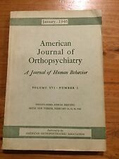 American Journal of Orthopsychiatry January 1946 Psychiatry Krugman Harle Dukes