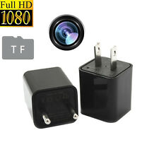 HD 1080P AC Adapter USB Charger Spy Hidden Camera Video Recorder Loop Record 8GB
