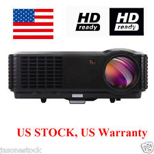 7000:1 1080P 4500 Lumens Home theater HD TV PC DVD 3D LCD LED Projector US STOCK