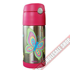 100% Genuine THERMOS Funtainer 355ml Vacuum Insulated Beverage Bottle Butterfly!