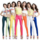 Womens Stretch Candy Pencil Pants Casual Slim Fit Skinny Jeans Trousers Vogue