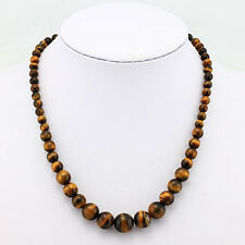 BEAUTIFUL COLLECTION GENUINE TIGER EYE NECKLACE 20 INCH