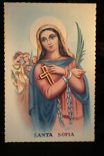 OLD SAINT SOPHIA RELIGIOUS POSTCARD . SEE MY EBAY SHOP . CCER84