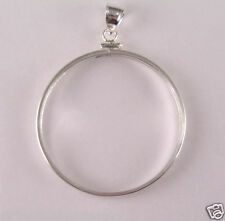 Coin Bezel Frame 1 oz. AMERICAN SILVER EAGLE 40mm Sterling Silver Soldered Bail