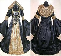MEDIEVAL DRESS 20-22-24 XL-2XL-3XL GOTH WITCH COSTUME LARP VAMPIRE HALLOWEEN REN