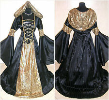 MEDIEVAL DRESS 20-22-24 XL-2XL-3XL WEDDING GOTH WITCH COSTUME LARP VAMPIRE WICCA