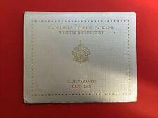 1 EURO VATICAN 2005 - PLAQUETTE SEDE VACANT ( 7 PIECES B.U SANS la 2 EURO  )
