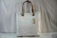 Michael Kors Jet Set Mirror Metallic Jet Set Tote in White Agsbeagle