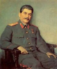 Large Oil painting male Portrait of General joseph stalin canvas