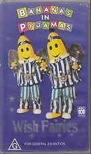 PAL VHS VIDEO TAPE : BANANAS IN PYJAMAS, WISH FAIRIES ABC