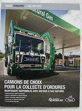 MACK TERRAPRO Gaz Naturel 2013 truck brochure sales catalog