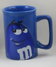 M&M Peanut Coffee Mug Cup Character Face Official Licensed Product Blue  2011