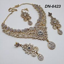 Gioielli indiano bollywood BRIDAL asiatici partito etnico Wear Collana Set