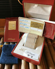 S.T. Dupont Accendino SOUBRENY, silberf., molto bella stato; Full Set Incl. BOX
