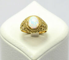 Dezenter 585 Gelb Gold Damen Ring Opal Gr. 62 (19,7 mm Ø) PI-92 NEU