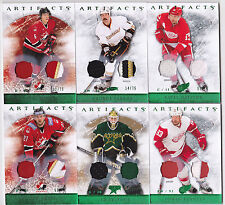 12-13 Artifacts Dan Boyle /75 Jersey Patch Emerald Green Team Canada 2012