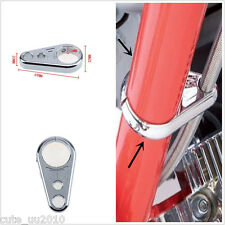 """1"""" 25mm Bar Chrome Alloy Brake Clutch Cable Wire Clamp Clip For Harley Davidson"""