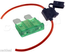 8 GAUGE INLINE ATC FUSE HOLDER WITH 30 AMP FUSE WITH COVER NEW CAR TRUCK INSTALL