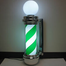 Green White Barber Shop Pole Marijuana Weed Dispensary Business Open Store Sign