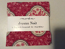 "Joyeux Noel by French General for Moda  - fabric Charm Pack - 5"" squares"