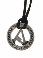 NEW Assassins Creed Unity Circular Logo Pendant Black Cord Necklace Licensed