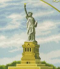 "SALE!!! COMPLETE CROSS STITCH MATERIALS ""LADY LIBERTY"" FREE SHIP"