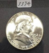 1952 Franklin 50C (#3394) Gem Bu. Really Nice Coin. Carefully Check out the Phot