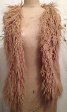 Used Ladies Light Brown Small-medium Size Furry Gilet Body warmer