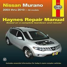 2003 2004 2005 2006 2007 1008 2009 2010 Nissan Murano Haynes Repair Manual 921X
