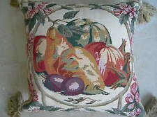 Decorative Pears Assorted Fruit & Floral Tasseled Pillow Cover