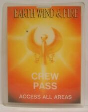 EARTH WIND & FIRE - ORIGINAL LAMINATE TOUR PASS - LEFTOVER PASS FROM TOUR