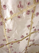 ZIMMER ROHDE TAFFETA SILK TRELLIS IVORY GRAPE EMBROIDERY FABRIC msrp $300/yd!