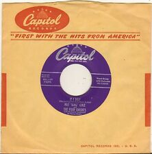 "THE FOUR KNIGHTS / NAT KING COLE ""IF I MAY"" DOO WOP SP 1955 CAPITOL F3095"