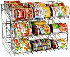 36 Can Rack Organizer Kitchen Pantry Food Holder Metal Storage Shelves