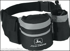 BRAND NEW LICENSED BLACK JOHN DEERE BELT BAG CAN HOLDER CAP TOOL UTILITY BUMBAG