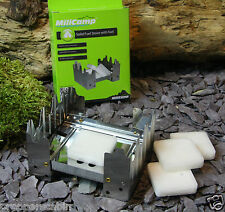 NEW Solid Fuel MOD Military Hexamine Hexi Portable Cooker Stove with 4 Tablets
