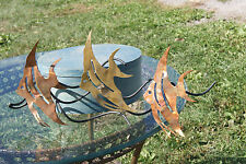 C JERE STYLE FISH 3 LARGE FISH COPPER WALL HANGER SCULPTURE NICE PIECE RARE!