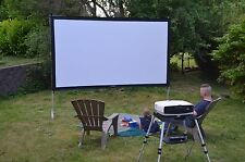 "Visual Apex 144"" Portable Indoor Outdoor Projector Screen - ProjectoScreen144HD"