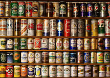 Framed Print - Shelves Full of Different Beer Cans (Picture Poster Ale CAMRA)