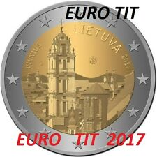2 €  LITUANIE   COMMEMORATIVE  2017    LOT  DE  3  X  PIECES    NOUVEAU   2017