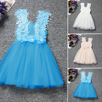 Kids Flower Girls Dresses Lace Formal Party Wedding Bridesmaid Princess Dress