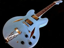 NEW SEMI HOLLOW CHAMBERED DAPHNE BLUE Trini Lopez STYLE 6 STRING ELECTRIC GUITAR
