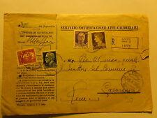 ATTI GIUDIZIARI REGNO 1939 DA LECCE ALL'ESATTORE COMUNE DI CASARANO PIO ALFONSO