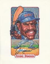 """Andre Dawson SIGNED 8"""" x 10""""  Photo Caricature - Chicago Cubs"""