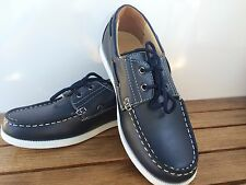 Morenza Topsider/ Boat Shoes  Navy Blue/ White Shoes  Little Boys Size 11