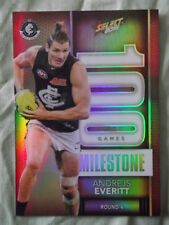 2016 SELECT FOOTY STARS AFL CARDS MILESTONE GAMES CARLTON BLUES A EVERITT MG7